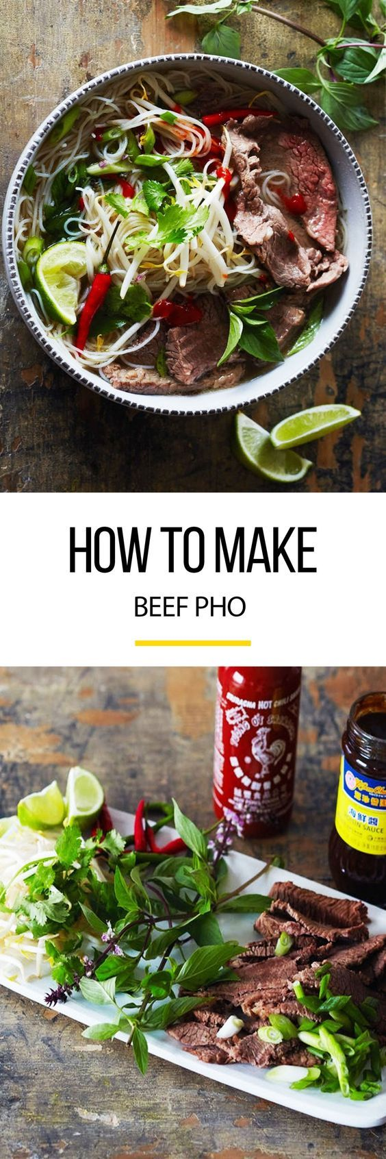 This beef pho recipe is a long process, but it's so worth it! This slow cooking and slow simmer soup is comfort food at it's finest. The step by step tutorial will ensure perfect pho every time! Great if you're looking for recipes to use up beef knuckle or shank.