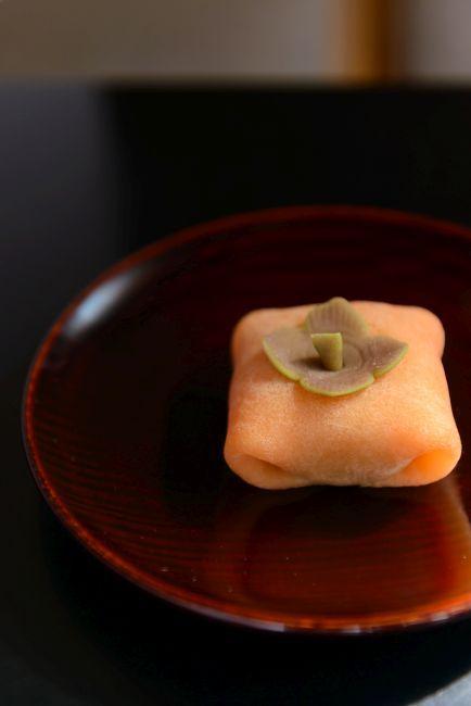 「里の秋」Yoshinobu Tsuruya Japanese sweet treat. Concept is Fall in Country.