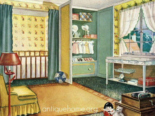 Vintage 1920 Babys Room Antique Home Interiors