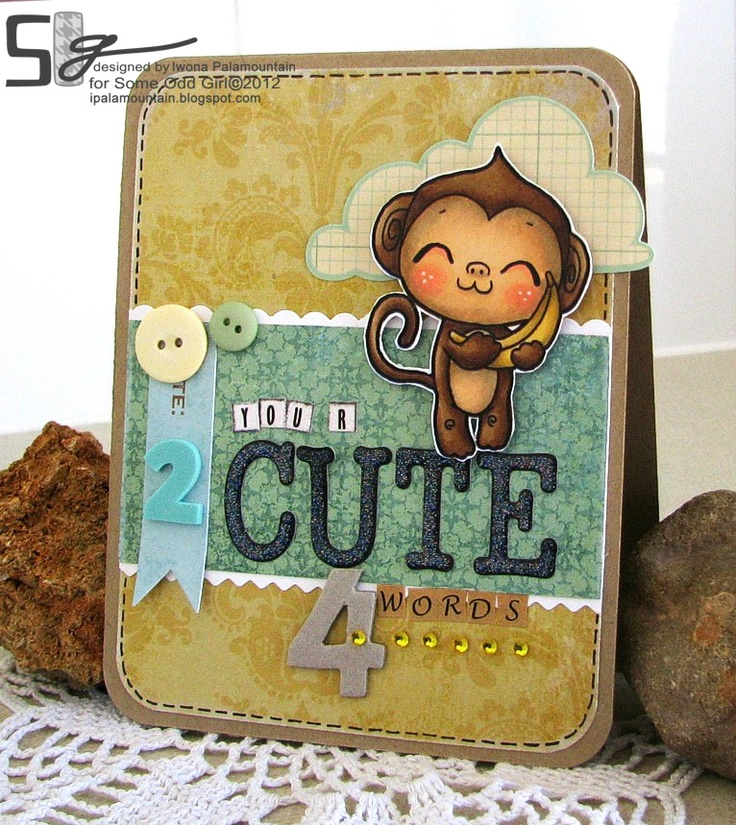 some Odd Girl blog card done by Iwona palamountain using Nana Love Ollie #digital Stamp