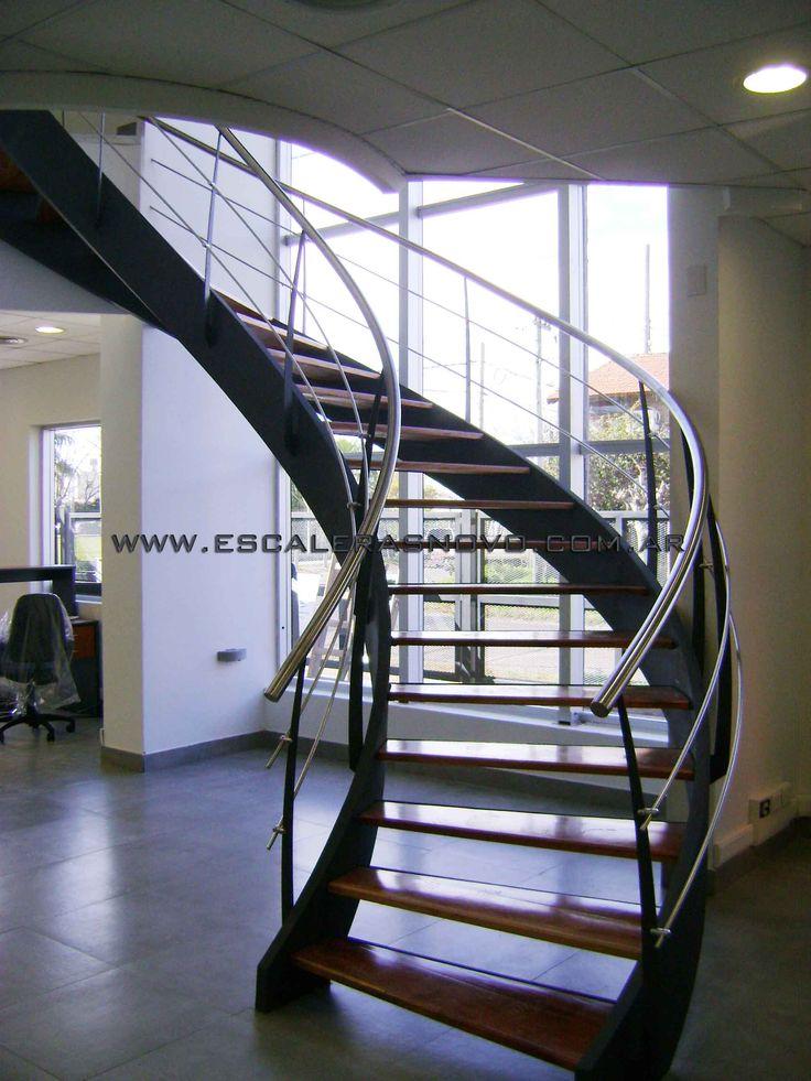Las 25 mejores ideas sobre escalera helicoidal en for Medidas escaleras
