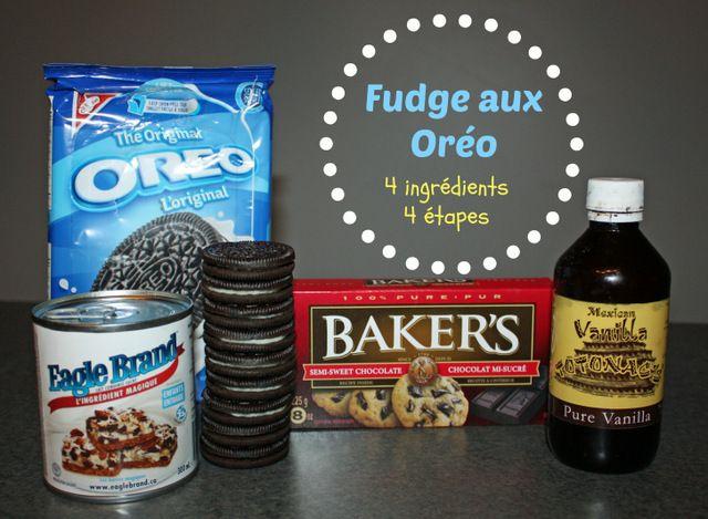 Une recette de fudge aux Oréo, 4 ingrédients, 4 étapes!