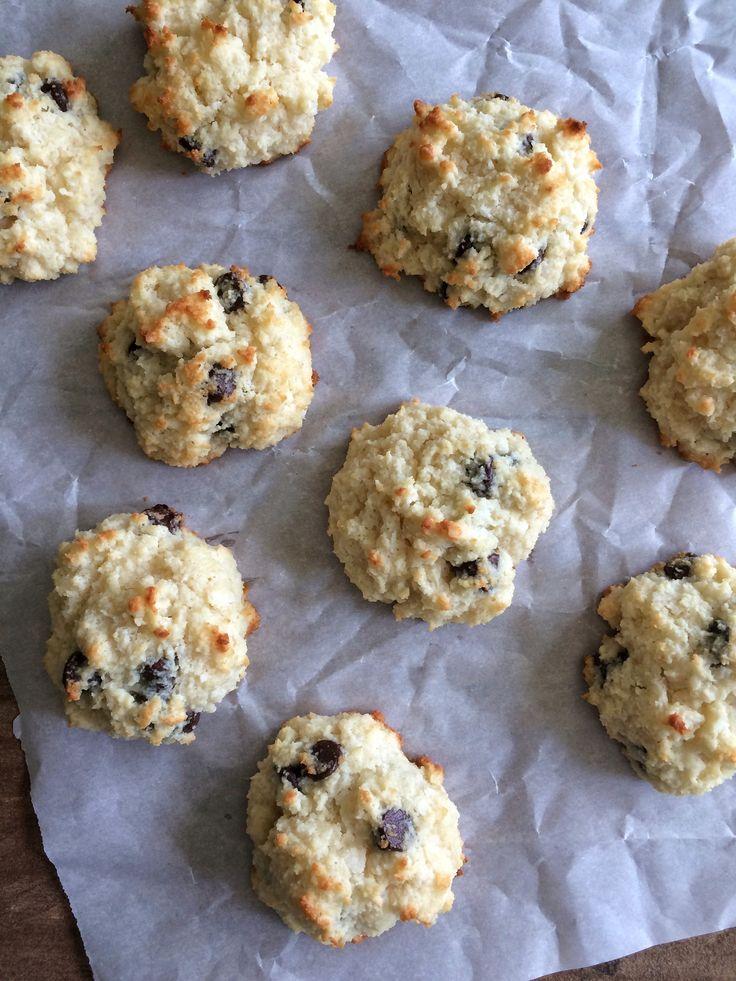 Low-Carb Coconut Chocolate Chip Drop Scone Recipe