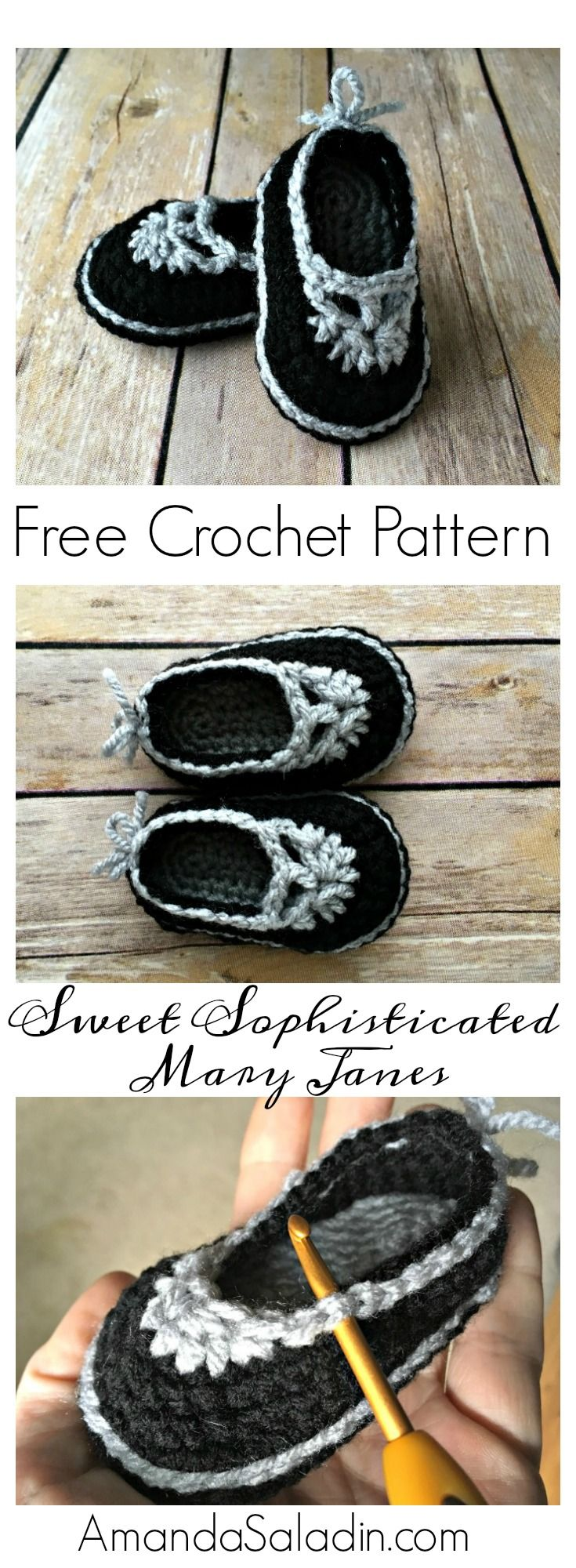 One of this week's Featured Favorites at the Tuesday PIN-spiration Link Party: Free Crochet Pattern - Mary Jane Baby Booties Get your copy of the free pattern right here:
