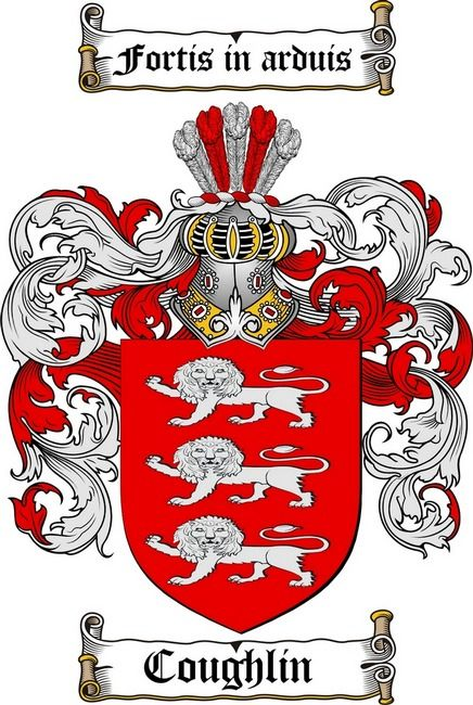 COUGHLIN FAMILY CREST -  COUGHLIN COAT OF ARMS
