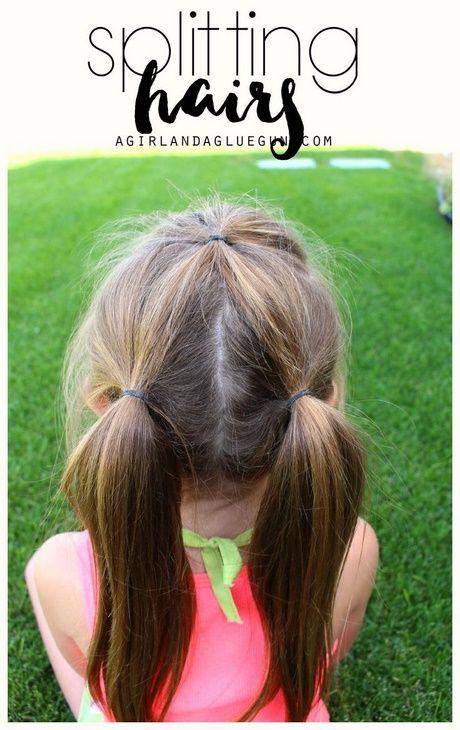 Süße und helle Frisuren für kleine Mädchen