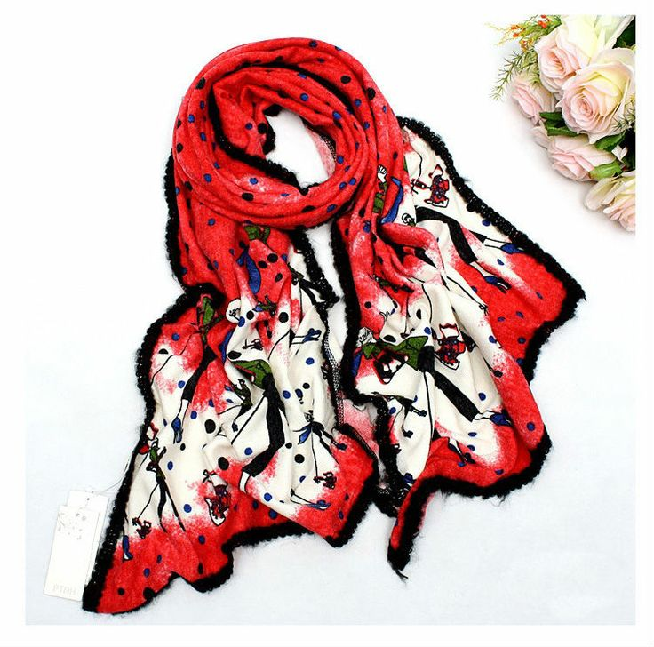 Winter In Paris Scarf- Red $49