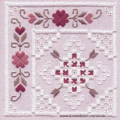 ... stitched on 22 hpi white <b>hardanger</b> fabric this <b>hardanger</b> <b>kit</b> contains