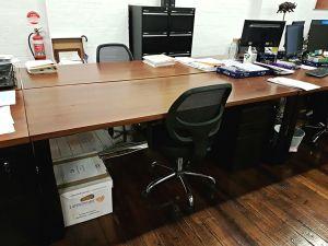 Steel hoop leg desks for Speirs Ryan, Sydney lawn firm