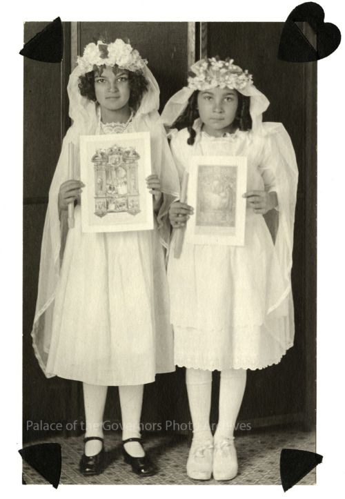 Dolores Perrault (left) and Olivia Perrault (right), New MexicoDate: circa 1918-1930From the Jesusita Perrault collection, Negative Number HP.2010.42.3