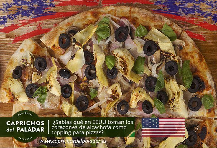 ¿ Sabías qué en Estados Unidos el mayor consumo de los Corazones de Alcachofa es como TOPPING para PIZZAS?