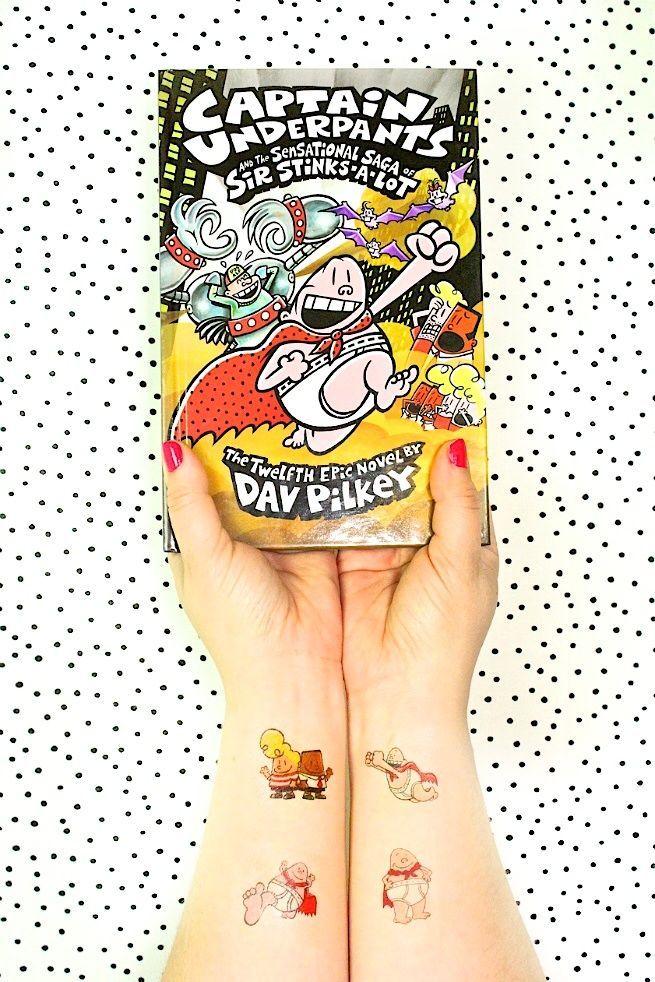 DIY Captain Underpants Tattoos! Fun craft for kids.