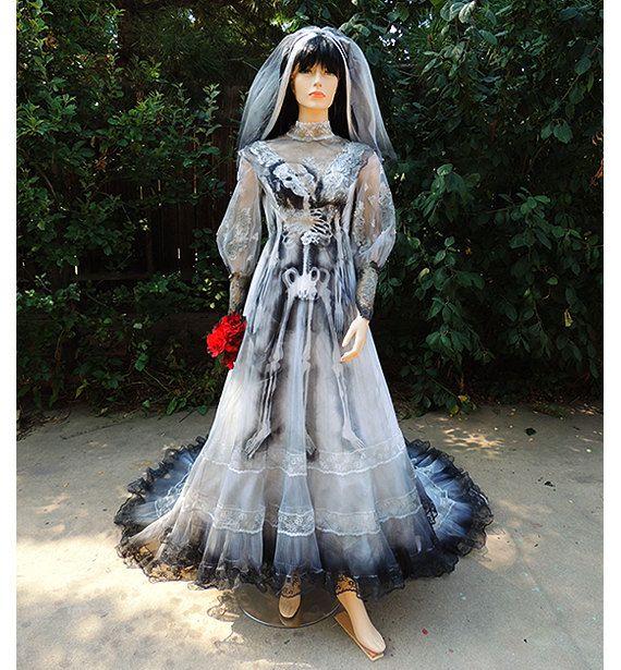 Victorian Ghost Bride Halloween Costume Wedding Dress Vintage Gown By GraveyardShift13 On Etsy