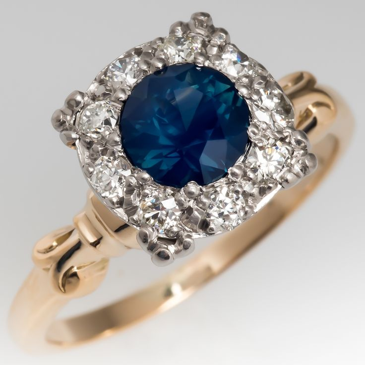 or gold engagement round blue bezel yellow rings stellar fields sapphire products montana in green platinum ring