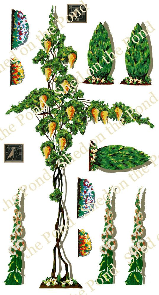 Reproduction Triang Dolls House Floral Decals