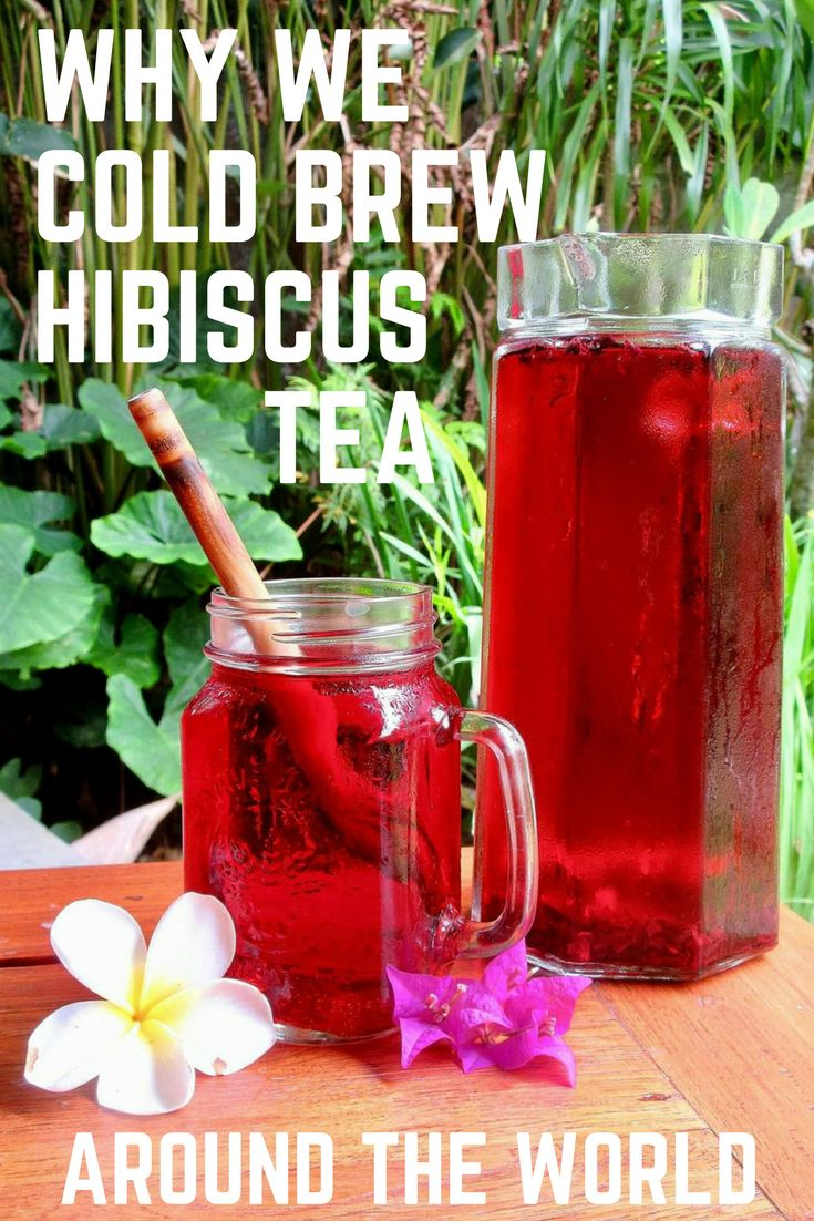Cold brew hibiscus tea recipe! Hibiscus tea is something we travel the world with. The many health benefits of hibiscus tea and the refreshing taste are just a few reasons why!