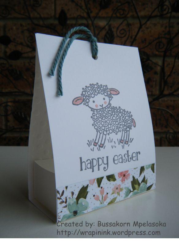 Easter Lamb Treat Bag Box