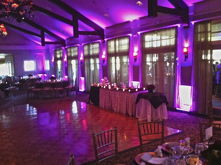 10 best wedding uplighting and decor images on pinterest hudson wall uplighting golf course wedding indoor wedding decor music and lighting by dj junglespirit Images