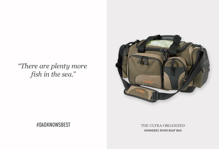 Let Dad know you've actually been listening to his good advice over the years with a gift he'll love – like our Kennebec River Boat Bag.  #dadknowsbest