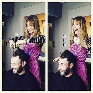When Behati became Adam's stylist: | Community Post: 15 Times Adam Levine And Behati Prinsloo Gave Us Serious Relationship Goals