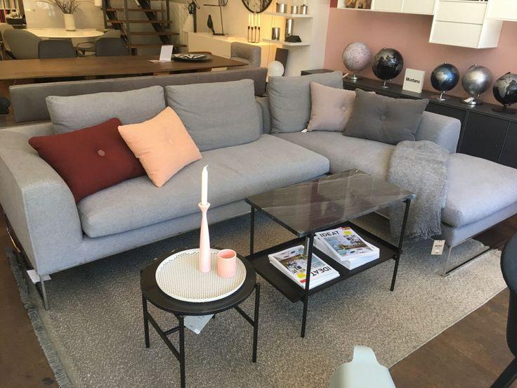 Ecksofa Mell Lounge Von Cor In Stoff Grau Mit Verchromtem Kufengestell Sofa Couch Chrom Schonerwohnen Livin Mobeldesign Lounge Gemutliches Sofa