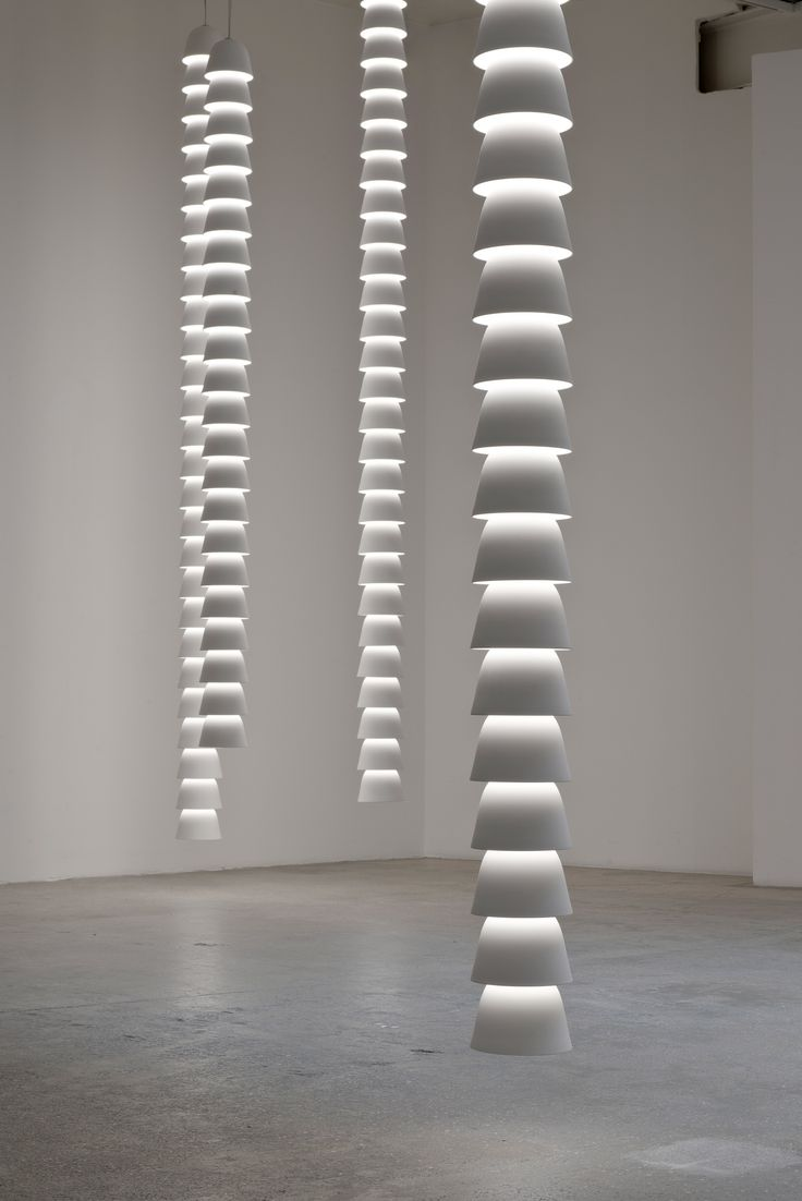 """Ronan and Erwan Bouroullec's latest piece for Galerie Kreo is a series of light chains made from links that can be """"endlessly joined together"""""""