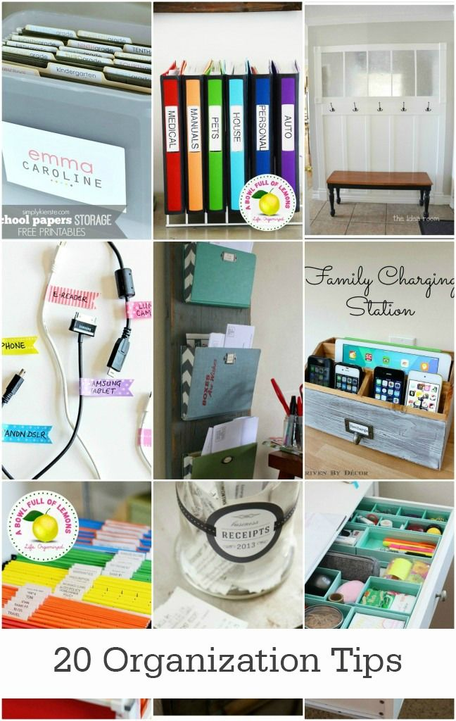 Get your house in order with these simple 20 office and home organization tips! Tackle one at a time to slowly, but surely, declutter your home.
