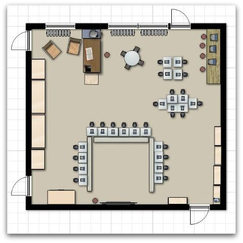 111 best images about learning spaces on pinterest for Classroom floor plan
