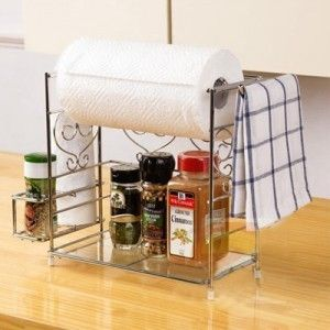 High quality mini fashion tieyi kitchen towel seasoning rack shelf storage rack shelf $9.80