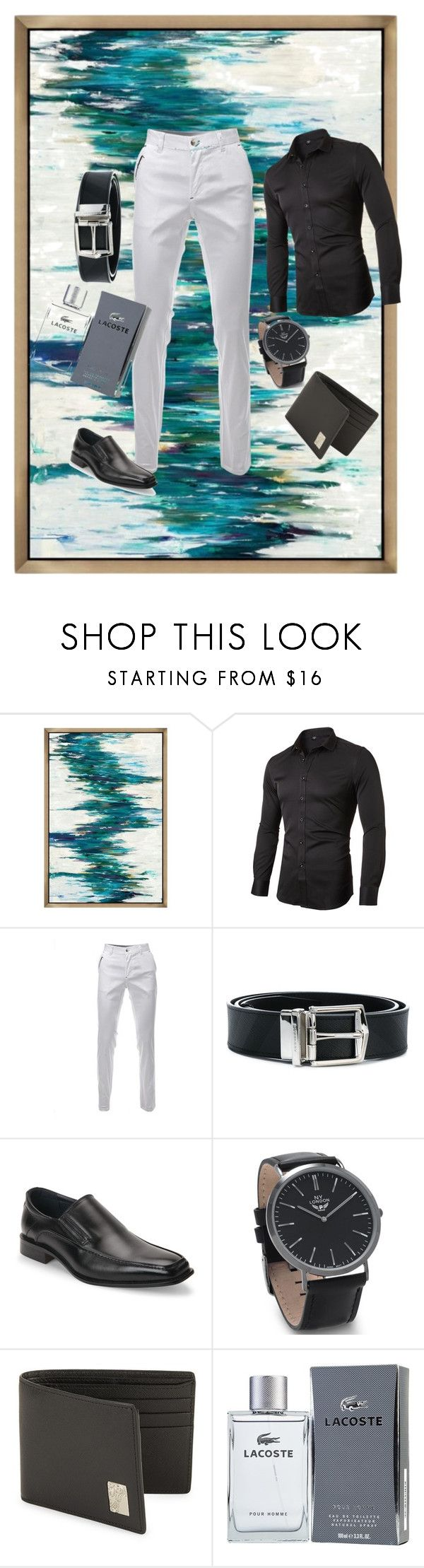 """Untitled #12"" by elziradzinic ❤ liked on Polyvore featuring Burberry, Joseph Abboud, BillyTheTree, Versace, Lacoste, men's fashion and menswear"