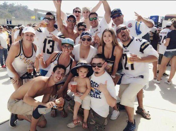2) Tailgating at Chargers games with friends and family was a distinct part of Charlie's childhood.  In fact, Charlie's parents met and fell in love at a tailgate party.  Charlie's grandparents started the tailgating tradition back when the Chargers first moved to San Diego in 1961.