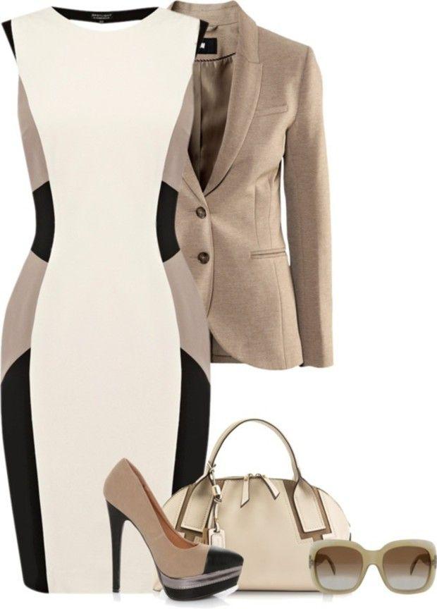 Combinación a usarse con el Blazer para día de oficina, ya que el código de Negocios ya sea formal o Casual indica que se deben cubrir los hombros. corte del vestido