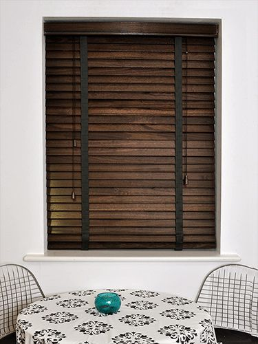 Burnished Walnut & Espresso Wooden Blind - 50mm Slat
