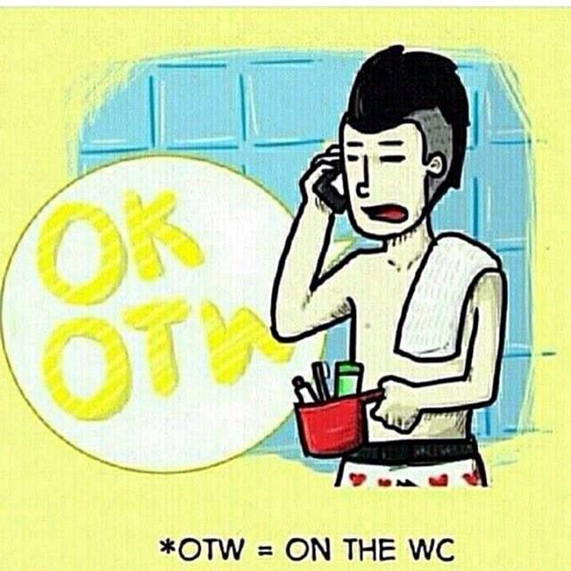 OK, OTW (On The Wc)