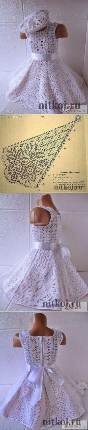 Платье «Маленькая мисс» » Ниткой - вязаные вещи для вашего дома, вязание крючком, вязание спицами, схемы вязания