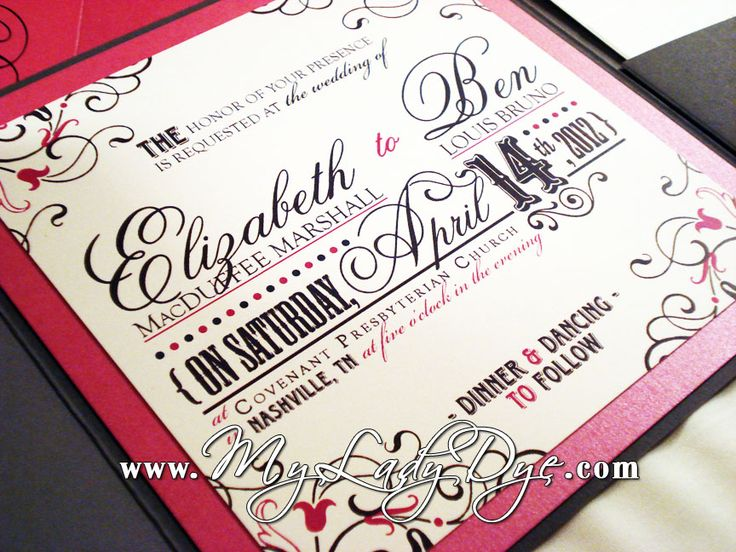 This Vintage Modern Wedding Invitation Suite Was Custom Designed For A Local Nashville Bride Groom