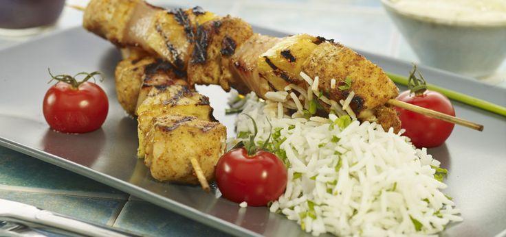 Grill: Szaszłyki z kurczaka z ananasem
