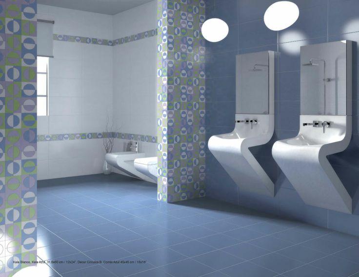 Kala blanco azul azulejos para ba os pinterest - Azulejos azules para bano ...