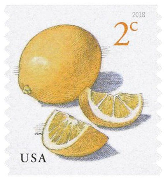 Unused 2018 Meyer Lemons Postage Stamps Number 5256