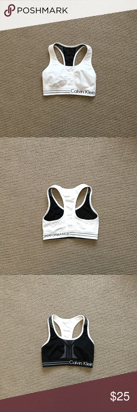 🎈SALE🎈 Calvin Klein Reversible Sports Bra Black and white reversible sports bra by Calvin Klein. In great used condition. Incredibly comfortable with a good amount of stretch. No stains or rips. Calvin Klein Intimates & Sleepwear Bras