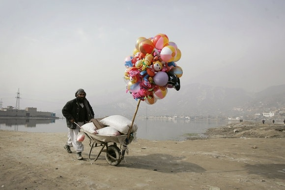 Balloon Seller, Afghanistan