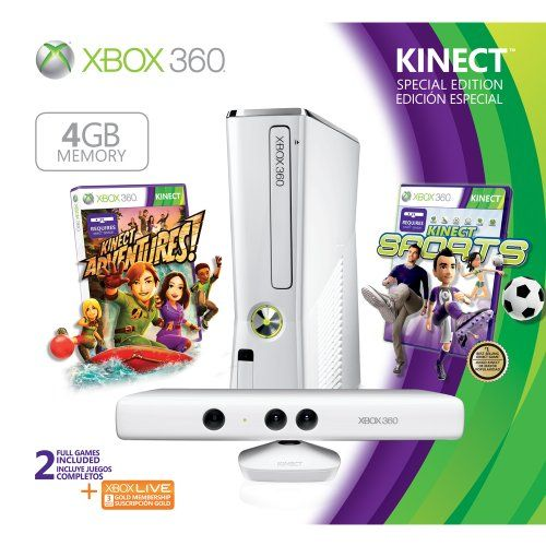 Enjoy the complete Xbox 360 experience including the controller-free fun of Kinect. Jump, dance, and get your whole body in the game with the unique experience of Kinect. Or use your controller to play the blockbuster games your friends can't stop talking about. Plus, with built-in Wi-Fi, it's easy to access tons of great entertainment on Xbox LIVE from HD movies and TV shows to sports. With Kinect, play, pause and rewind the action with a wave of your hand.