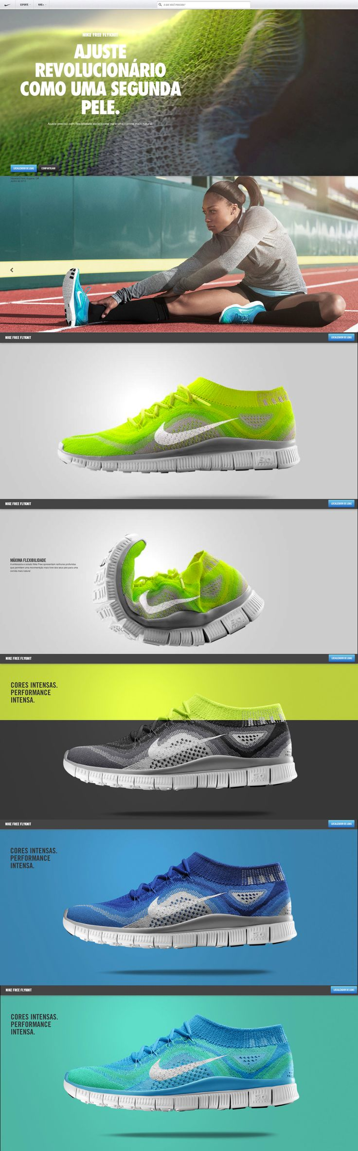 nike free flyknit // Hi Friends, look what I just found on #web #design! Make sure to follow us @moirestudiosjkt to see more pins like this | Moire Studios is a thriving website and graphic design studio based in Jakarta, Indonesia.
