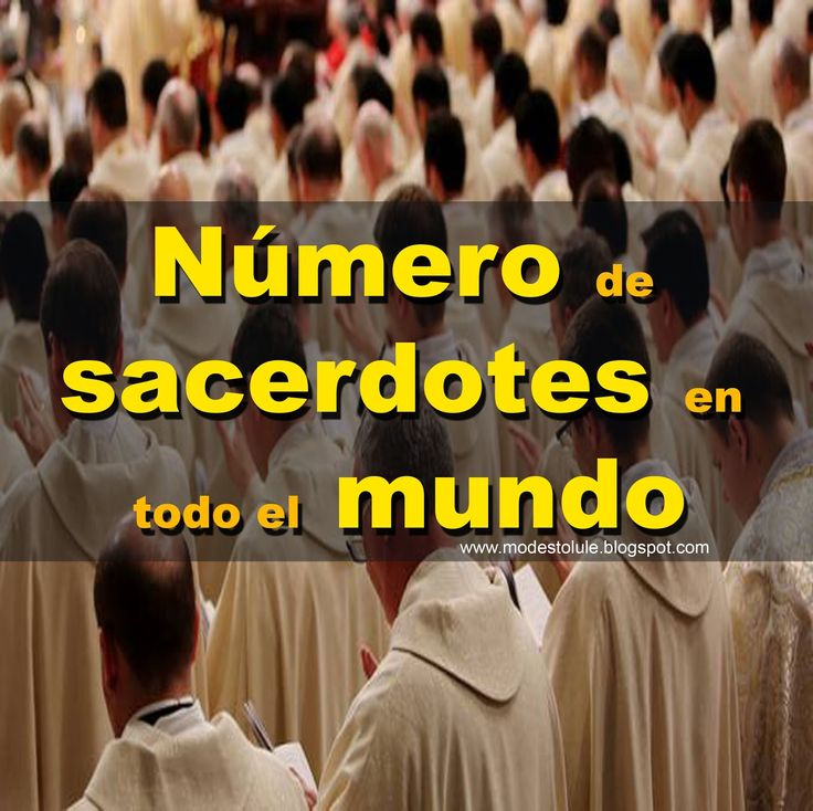 Modesto Lule Zavala MSP: Número de sacerdotes en todo el mundo hasta el 2014