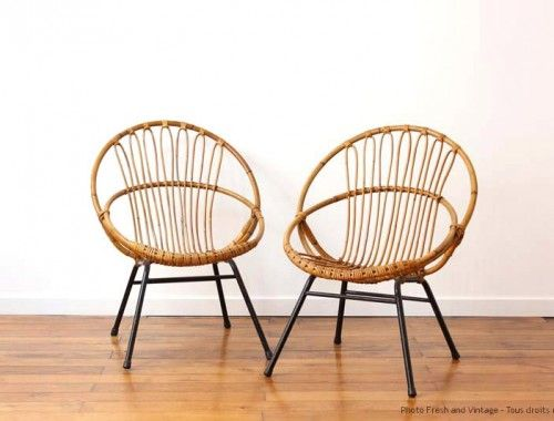 1000 images about le rotin me rend zinzin on pinterest - Fauteuil rotin metal ...