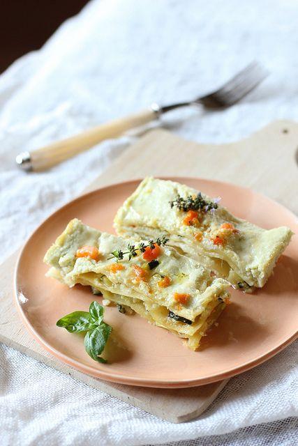Lasagne con verdure e ricotta