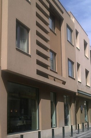 Exterior view of the oandb athens boutique hotel