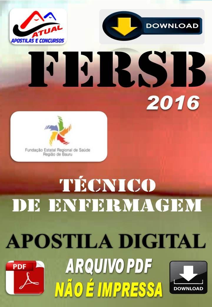 Concurso FERSB SP Tecnico de Enfermagem 2016