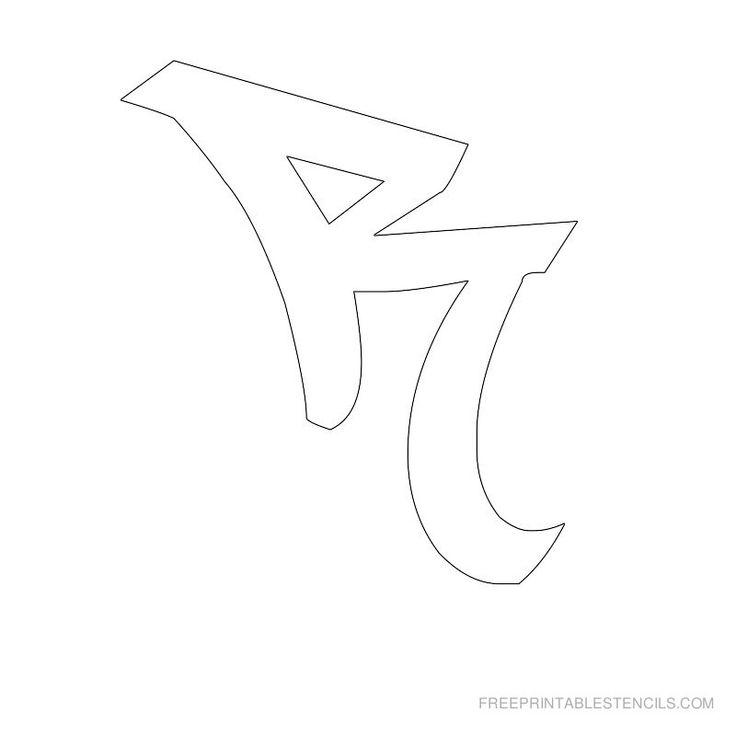free printable letter stencils | Free Printable Graffiti Alphabet Stencils | Free Printable Stencils ...