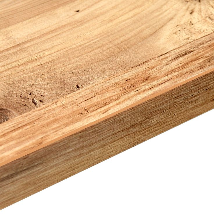 38mm B&Q Mississippi Pine Laminate Square Edge Kitchen Worktop | Departments | DIY at B&Q